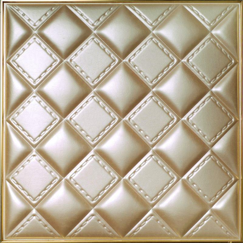 Leder-Wand-hölzerne Fliese nachgemachtes 500x500x3 Millimeter des ...