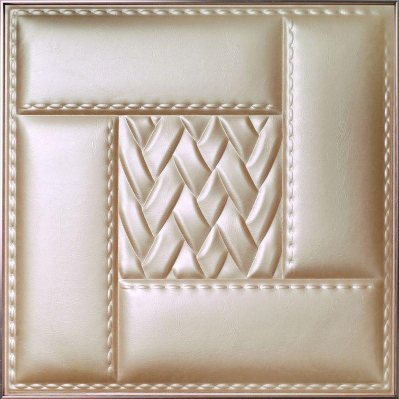 Wände des moderne Tapeten-dekorative Leder-3D für die Schlafzimmer ...