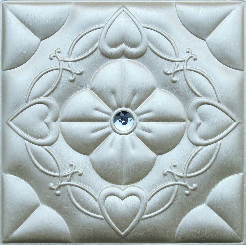 China Kundengebundener Leder Wand Wohnzimmer Hintergrund PC Silber 3D  Fournisseur